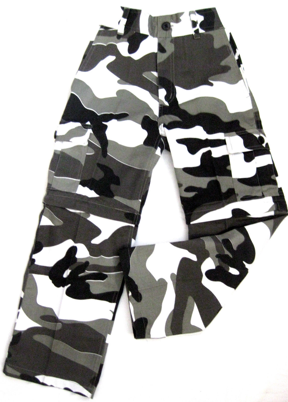 mfh us kinder zip off hose schneetarn metro camo bdu hose tarnhose kids 140 152 ebay. Black Bedroom Furniture Sets. Home Design Ideas