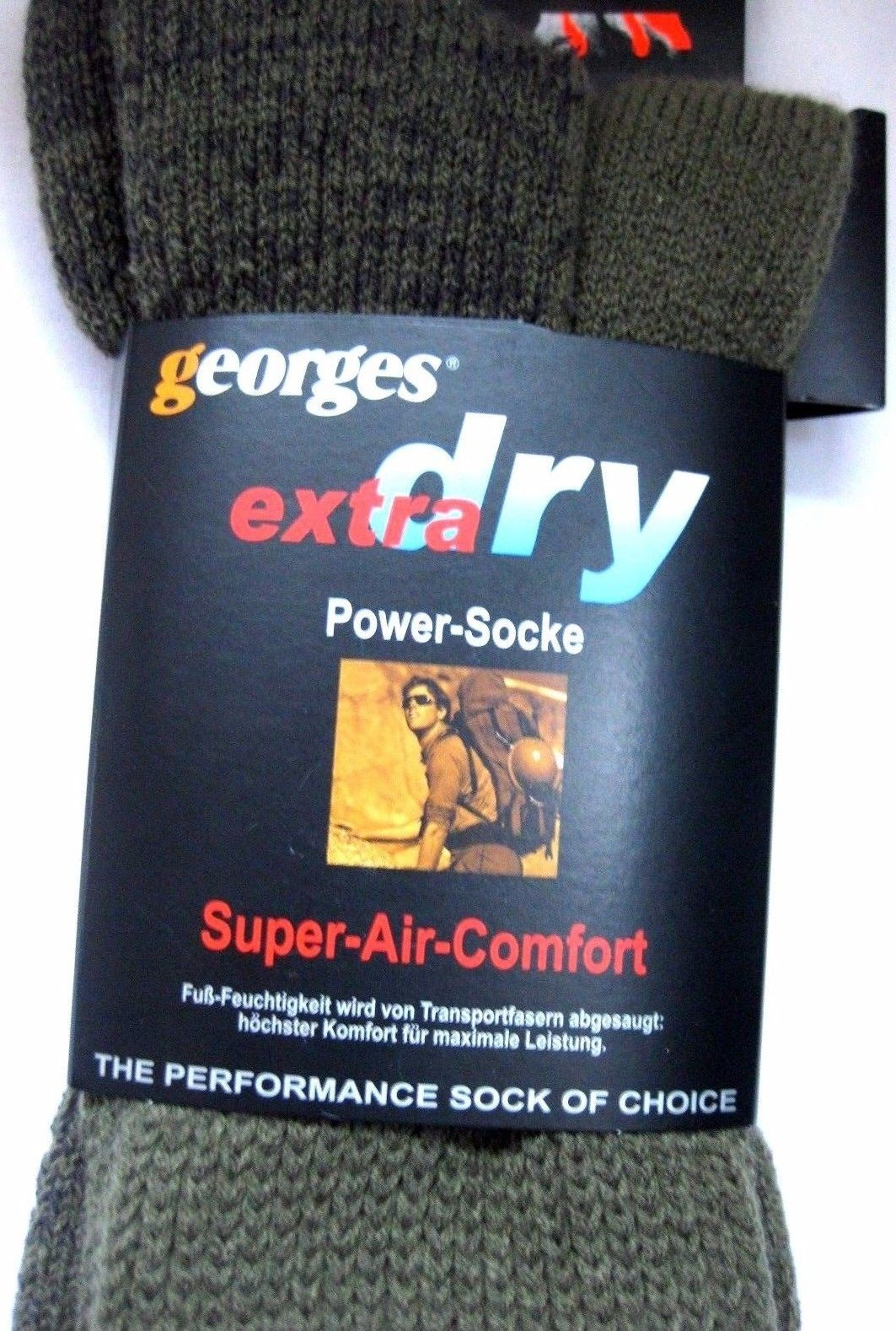 Georges Socken Strümpfe Low Super Air Comfort Powersocke olive 35/38,46/48