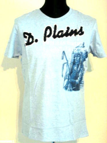 Ditch Plains New York Indianer Motiv T-Shirt Short Crew Tee Shirt heather blue S 46