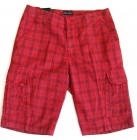 Luigi Morini Cargoshorts Bermuda Männer Shorts red checks 50 52 54 56