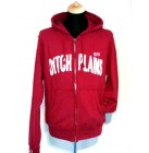 Ditch Plains New York Sweatshirtjacke  Hooded Applique Logo Kapuzensweatshirt rot M 46/48