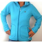 2117 of Sweden Damen Urberget Jacke Fleece Kapuzenjacke im Waffeldesign aqua blue 36-44