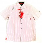 EXXTASY  Kalmar Men Funktions Hemd kurzarm Shirt UVA+B Schutz white red gestreift 50,58