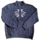 Kitaro City of Oxford Herren Jacke Sweatshirtjacke Sweatjacke Bruststick navy M-XXL
