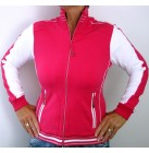 Northland Kimmy Damen Sportjacke Freizeitjacke Stretch Sweatjacke rose/white 42