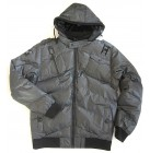 Poolman Jacket Winterjacke Blouson mit Kapuze black/white fein gestreift L,XL,XXL