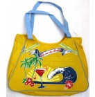 "Bagstreet ,,Sex on the Beach"" große Strandtasche Beach Bag Badetasche gelb 52x35x18 cm"