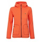 2117 of Sweden Urberget Jacke Fleece Kapuzenjacke im Waffeldesign orangerot 38-44